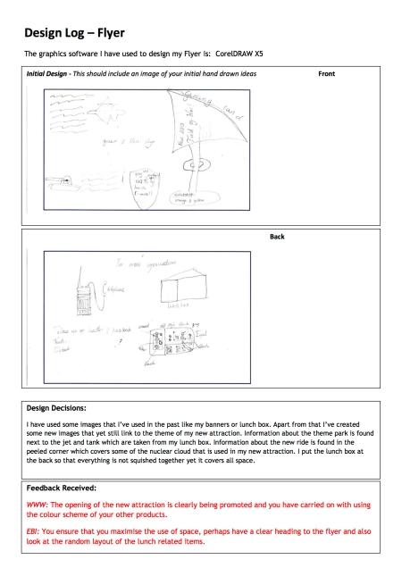 Design Log Flyer Landscape
